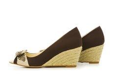 Geïsoleerdeg de schoenen van de vrouw Royalty-vrije Stock Foto