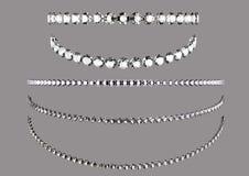 Geïsoleerdeg diamant Royalty-vrije Stock Afbeelding