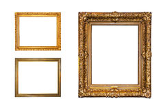 Geïsoleerdeg gouden frames Royalty-vrije Stock Fotografie