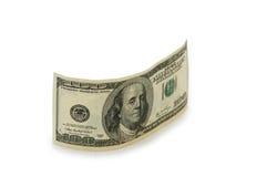 Geïsoleerdeg het bankbiljet van de dollar Royalty-vrije Stock Afbeeldingen