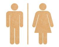 Geïsoleerdeg het pictogramreeks van het toilet royalty-vrije illustratie
