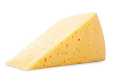 Geïsoleerdeg kaas Stock Foto