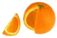 Geïsoleerdeg sinaasappel Royalty-vrije Stock Fotografie