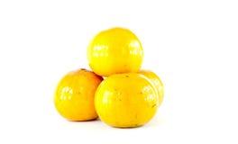 Geïsoleerdeg sinaasappelen Royalty-vrije Stock Foto's