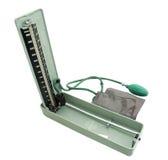 Geïsoleerdeg Sphygmomanometer met het knippen van weg Royalty-vrije Stock Afbeeldingen