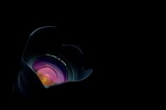 Geïsoleerdeg zwarte lens Royalty-vrije Stock Foto's