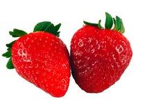 Geïsoleerdeh aardbeien Stock Foto