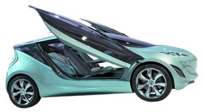 Geïsoleerdeh de coupé van het concept Stock Afbeeldingen