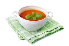 Geïsoleerdeh de soep van de tomaat Royalty-vrije Stock Fotografie
