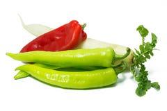 Geïsoleerdeh groenten Royalty-vrije Stock Fotografie