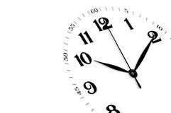 Geïsoleerdeh klok, tijdconcept Stock Afbeelding