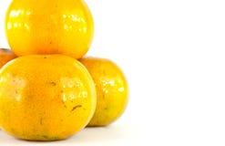 Geïsoleerdeh sinaasappelen Royalty-vrije Stock Fotografie