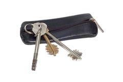 Geïsoleerdeh sleutels. Royalty-vrije Stock Afbeeldingen