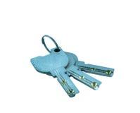 Geïsoleerdeh sleutels Stock Foto