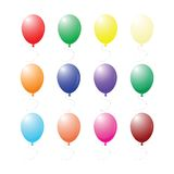 Geïsoleerdei ballons op witte achtergrond Stock Foto