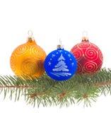 Geïsoleerdei de decoratie van Kerstmis Stock Foto's