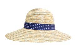 Geïsoleerdei de hoed van het stro Stock Afbeelding