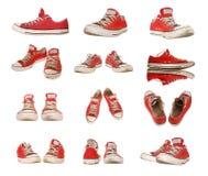 Geïsoleerdei de schoenen van de sport Stock Afbeelding