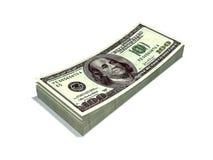 Geïsoleerdei dollars Royalty-vrije Stock Foto's
