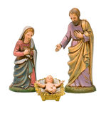 Geïsoleerdei geboorte van Christus Stock Foto