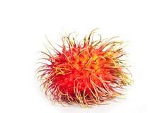 Geïsoleerdei het fruit van Rambutan Stock Foto
