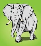 Geïsoleerdei olifant stock illustratie