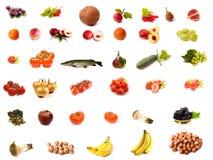 Geïsoleerdei voedselreeks Stock Afbeeldingen