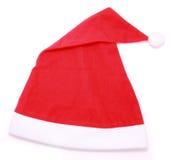 Geïsoleerdej de hoed van de kerstman royalty-vrije stock foto's