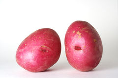 Geïsoleerdej rode aardappels Stock Foto's