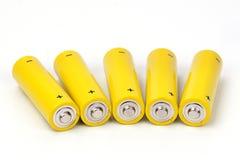 Geïsoleerdek batterijen Royalty-vrije Stock Foto's