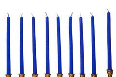 Geïsoleerdek de kaarsen van de Chanoeka menorah Royalty-vrije Stock Afbeelding