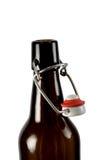 geïsoleerdek fles Stock Foto