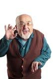 Geïsoleerdek grappige oude mens Stock Afbeelding