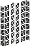 Geïsoleerdek het Loopvlak van de koolstof vector illustratie