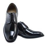 Geïsoleerdek schoenen met het knippen van weg Stock Afbeelding