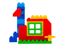 Geïsoleerdek woningbouw (het knippen weg) Royalty-vrije Stock Foto