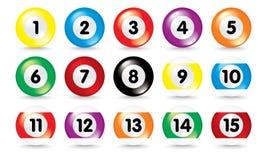 Geïsoleerdel 3d poolballen Stock Afbeelding