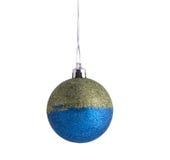 Geïsoleerdel de bal van Kerstmis Stock Foto
