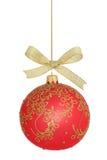 Geïsoleerdel de bal van Kerstmis royalty-vrije stock afbeeldingen