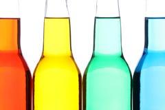 Geïsoleerdel de close-up van flessen Stock Afbeeldingen