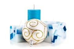 Geïsoleerdel de kaarsen van Kerstmis Stock Fotografie