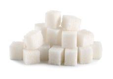 Geïsoleerdel de kubus van de suiker royalty-vrije stock afbeelding