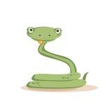 Geïsoleerdel de slang van het beeldverhaal Royalty-vrije Stock Foto