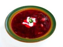 Geïsoleerdel de soep van de borsjt Stock Afbeelding