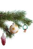 Geïsoleerdel de spar van Kerstmis Stock Fotografie