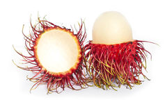 Geïsoleerdel het fruit van Rambutan Stock Afbeelding