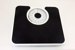 Geïsoleerdel het gewichtsschaal van de badkamers Stock Foto