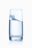 Geïsoleerdel het glas van het water Stock Afbeelding