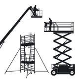 Geïsoleerdel lift en steiger vector illustratie