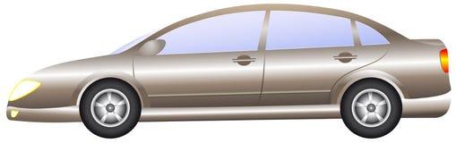 Geïsoleerdel moderne auto Stock Afbeeldingen